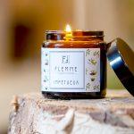 Impétueux pommadier 120ml Bougie Artisanale Parfumée Flemme allumée