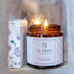Pudique pommadier 120ml Bougie Artisanale Parfumée Flemme allumée