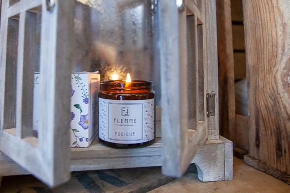 Pudique - Flemme Bougie artisanale naturelle parfumée