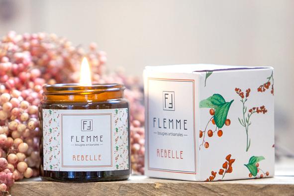Rebelle - Flemme Bougie artisanale naturelle parfumée